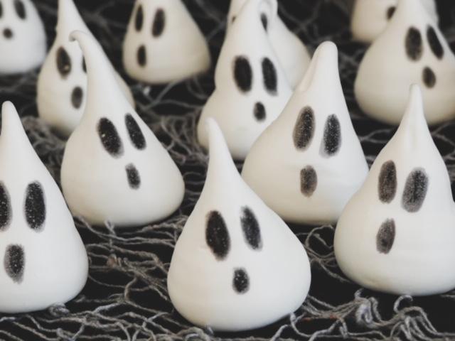 meringues fantômes halloween
